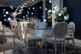 七万打造奢华后现代简约风格餐厅装修效果图