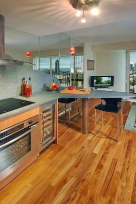 现代简欧风格厨房装修效果图大全2012图片