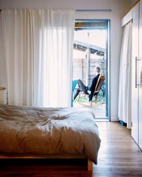 现代风格小户型卧室窗帘装修效果图大全2016图片