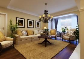 浪漫地中海风格客厅沙发装修效果图大全