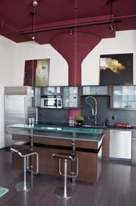 两房一厅打造欧式简约厨房装修效果图大全2012图片