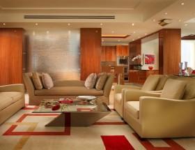 18万打造清新欧式风格二居客厅吊顶装修效果图