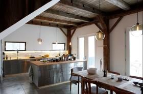 100万打造华丽美式别墅厨房橱柜装修效果图大全