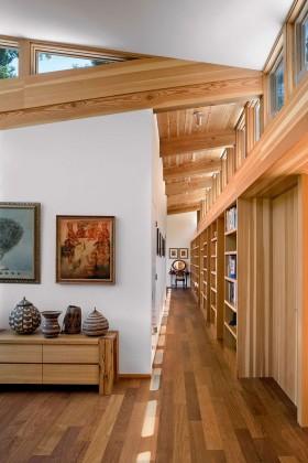 密林中的现代风格别墅过道装修效果图大全