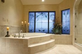 仿古地中海风格浴缸装修效果图
