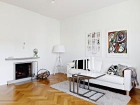 36平单身公寓客厅装修效果图大全