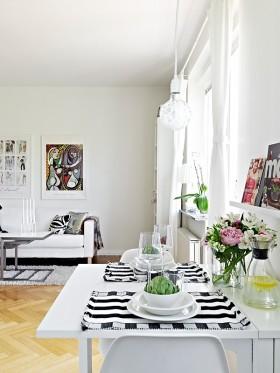 36平单身公寓餐厅装修效果图大全2012图片