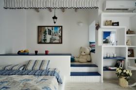 2012清淡素雅的地中海风格卧室背景墙