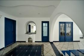 2012清淡素雅的地中海风格玄关装修效果图