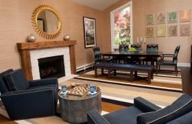 110平轻松打造美式二居房客厅装修效果图大全