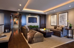 130㎡三室两厅客厅装修效果图大全