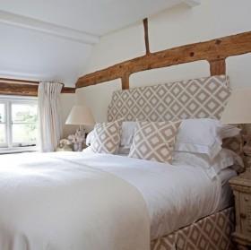 三居室地中海风格卧室背景墙装修效果图大全