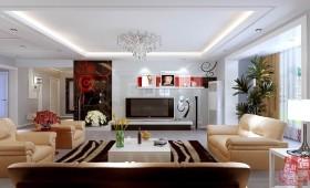 四居室现代风格电视背景墙装修效果图大全