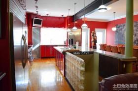 厨房玻璃砖隔墙效果图