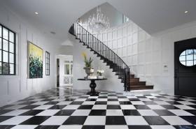 欧式高雅的复式楼过道瓷砖装修效果图大全