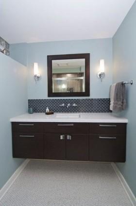 89㎡小户型现代时尚的卫生间装修效果图大全