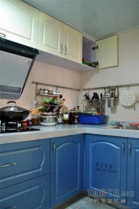 蓝蓝的天,蓝蓝的海2012地中海风格厨房橱柜效果图