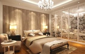 浪漫简约的三居室卧室吊顶装修效果图大全