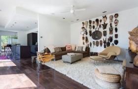 120平三房两厅美式现代风格客厅装修效果图大全