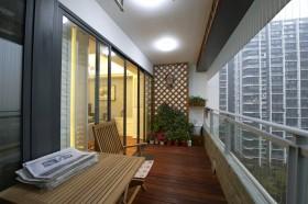 客厅阳台装修效果图 开放式阳台装修设计图片