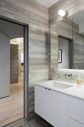 素雅清新的卫生间洗手台装修效果图大全