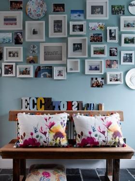 情迷地中海风格复式楼客厅背景墙装修效果图