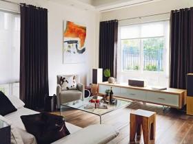 15万打造浪漫北欧风格客厅窗帘复式装修效果图大全