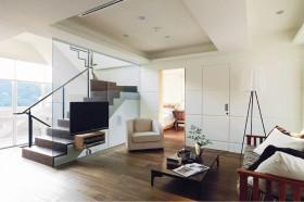 15万打造浪漫北欧风格客厅复式装修效果图大全