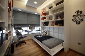 二室一厅现代风格书房博古架装修效果图大全