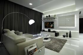 二室一厅现代风格客厅电视背景墙装修效果图大全