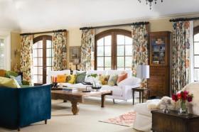 两室一厅美式田园客厅装修效果图