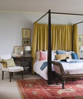 两室一厅美式田园卧室装修效果图