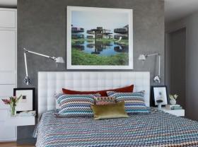 13万打造清新纯白现代风格卧室背景墙装修效果图大全