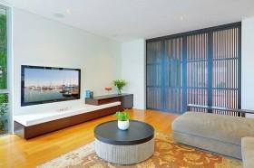 25万打造后现代电视背景墙装修效果图大全2012图片