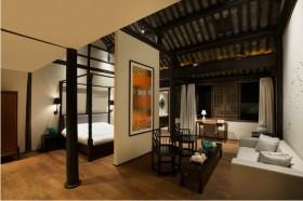 50平米中式风格小户型客厅隔断装修效果图大全