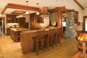 17万打造绝美中式风格复式厨房卧室装修效果图大全2012图片