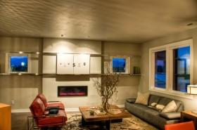 30平现代风格复式客厅装修效果图