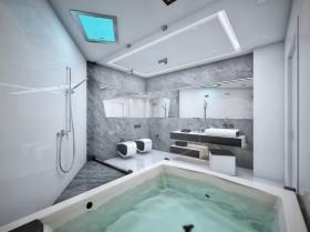 两室两厅两卫极简卫生间瓷砖装修