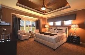 復式樓華麗的地中海風格臥室吊頂裝修效果圖