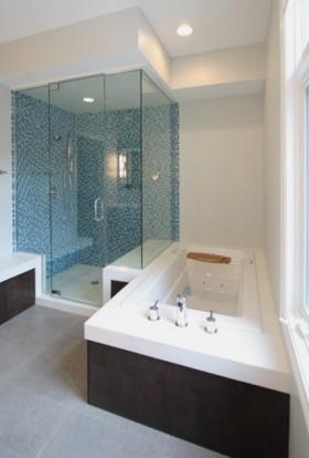 情迷地中海复式卫生间浴缸装修效果图大全