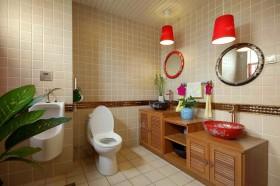 复式田园风格厕所装修效果图大全