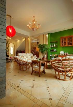 小复式田园风格浪漫客厅装修效果图