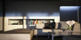 现代文艺范的别墅客厅装修效果图大全