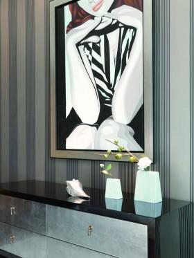 现代绚丽的别墅卫生间背景墙装修效果图大全