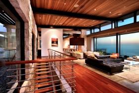 180平美式复式楼客厅装修效果图大全