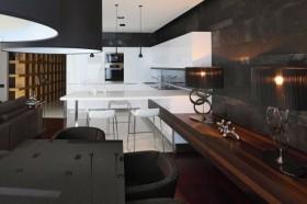 四居室中式内敛的餐厅橱柜装修效果图大全2012图片