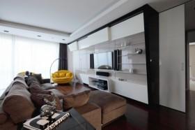 135㎡四居客厅电视背景墙装修效果图大全