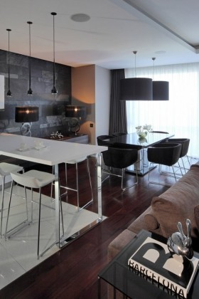 135㎡四居室餐厅装修效果图大全2012图片