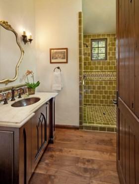 美式乡村风格美式乡村别墅卫生间装修效果图大全2012