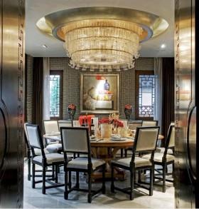 奢华的享受欧式餐厅吊顶装修效果图